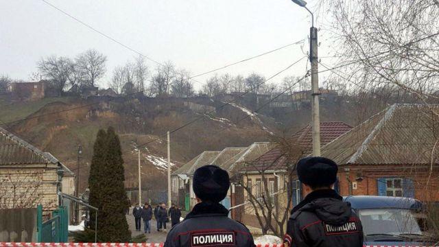 В Георгиевске из-за оползня разрушены строения