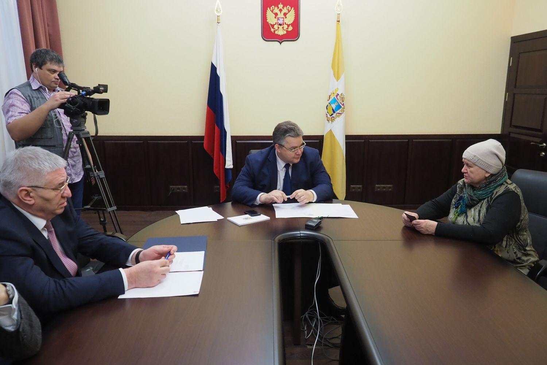 Губернатор Ставропольского края провёл личный приём граждан