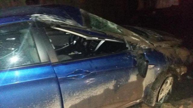 В Ставрополе перевернулся автомобиль, есть пострадавший