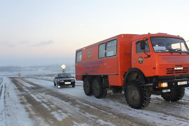 В Ставропольском крае из-за порывов ветра перевернулась фура и грузовая «ГАЗель»