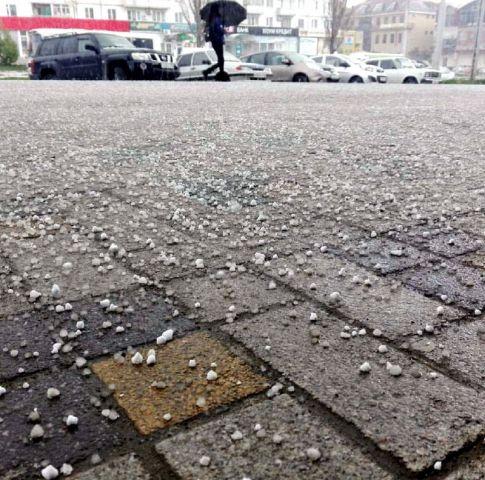 В Ставрополе выпал снег