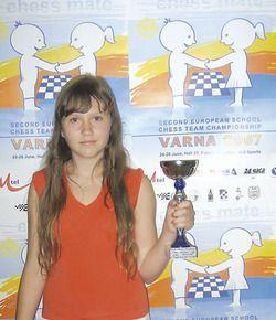 Юная ставропольская шахматистка второй раз стала чемпионкой Европы