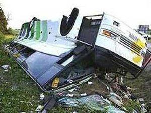 Пассажирский автобус сошел с трассы, есть жертвы
