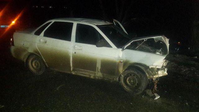 На Ставрополье столкнулись две легковушки, пострадали пять человек