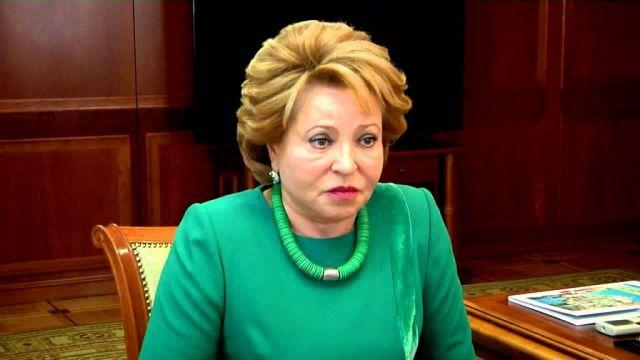 Валентина Матвиенко летом планирует провести отпуск вРоссии ипосетить Кисловодск