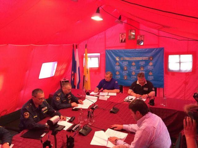 Ситуация в подтопленных районах Ставрополья стабилизируется