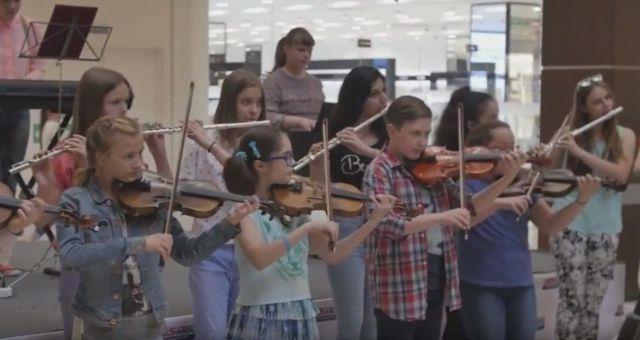 В Ставрополе школьники устроили музыкальный флешмоб
