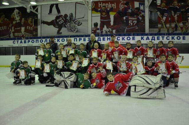 В честь Дня Защиты детей юные хоккеисты Ставрополя обыграли грозненскую команду