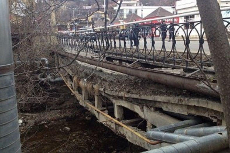 ВКисловодске приступили кстроительству моста через реку Ольховка