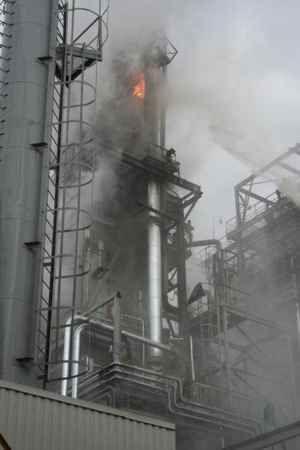На заводе «Ставролен» произошел взрыв и пожар