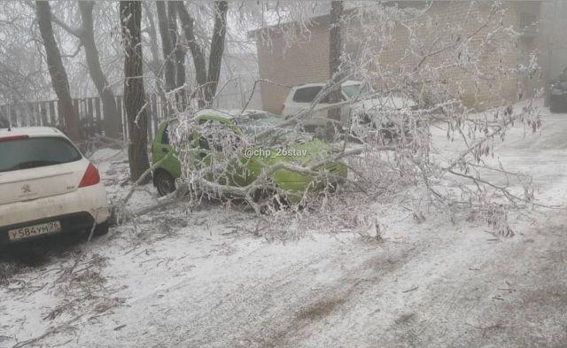 В Ставрополе из-за непогоды произошло 97 обрывов электропроводов