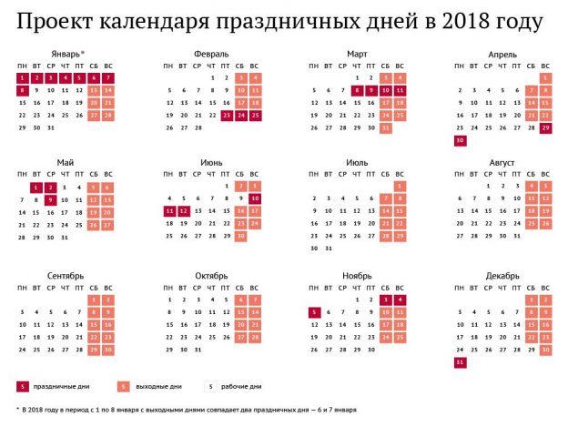 Правительство утвердило календарь выходных на 2018 год