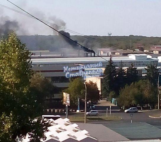 В Ставрополе произошло возгорание на территории СКИП «Мастер»