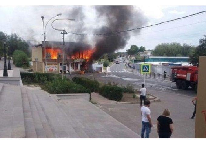 НаСтаврополье зажегся магазин пиротехники