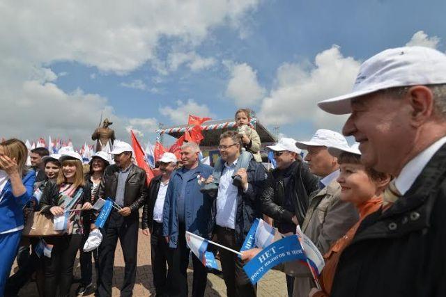 1 мая в Ставрополе прошёл митинг против роста цен и налогов