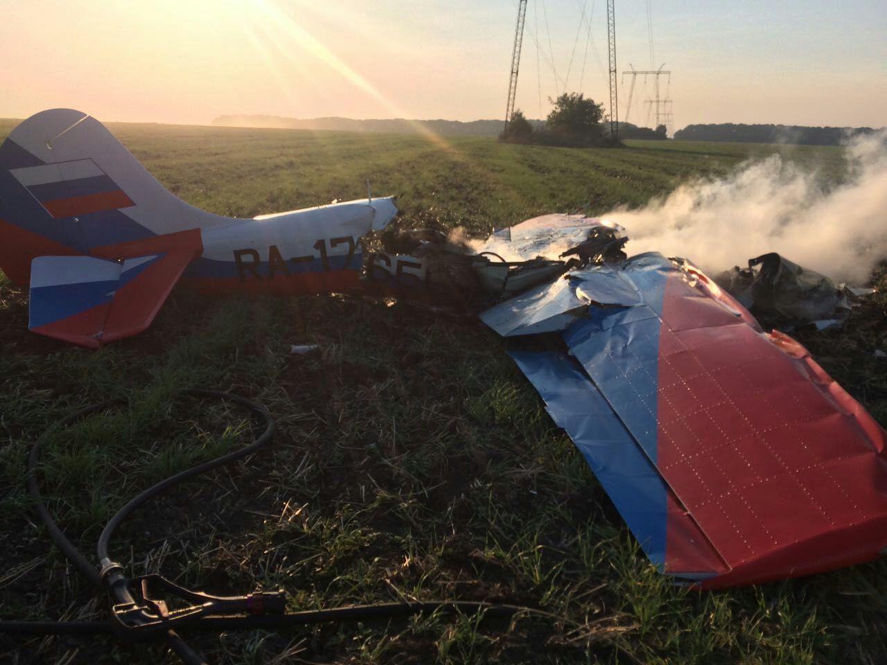 На Ставрополье при падении легкомоторного самолёта погибли два человека
