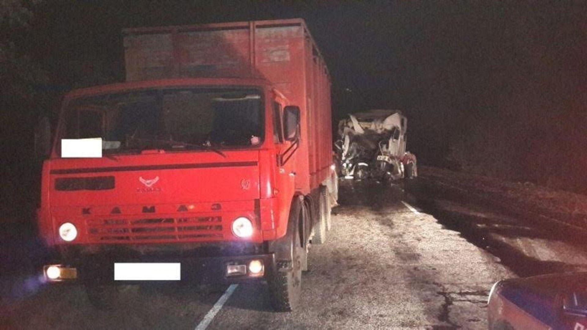 Два фургона столкнулись наСтаврополье, пострадал шофёр