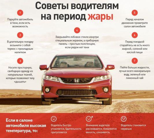 Ставропольцев предупредили об опасностях за рулём во время жары