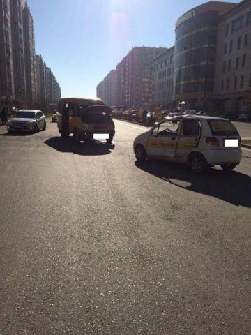 В Ставрополе легковушка столкнулась с маршруткой, есть пострадавший