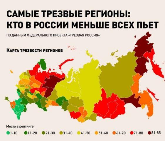 Ставропольский край занял седьмое место в рейтинге трезвости регионов России