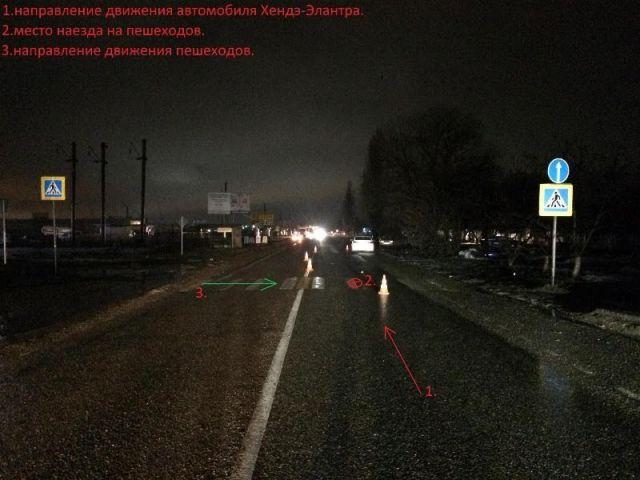 На Ставрополье 28-летняя женщина сбила двух пешеходов