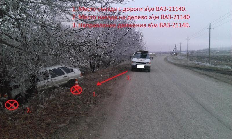 Смикроавтобуса навстречную машину упал груз наСтаврополье