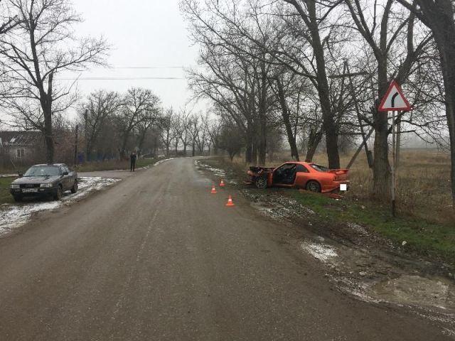 В Ставропольском крае спорткар врезался в дерево