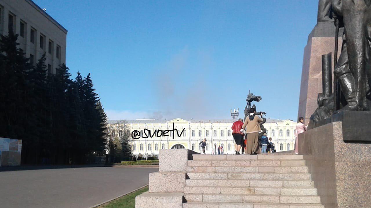 Очевидцы: В центре Ставрополя горит ресторан