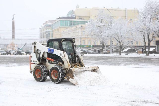 За минувшие двое суток из Ставрополя было вывезено почти 1700 кубометров снега