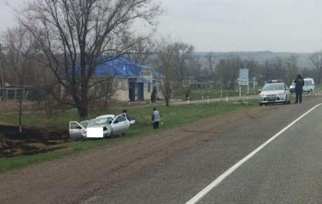 На Ставрополье во время движения умер водитель легковушки