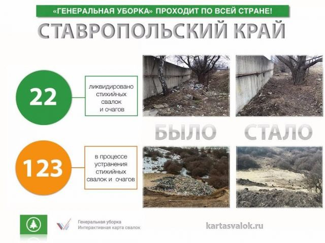 На Ставрополье ликвидированы 22 стихийные свалки