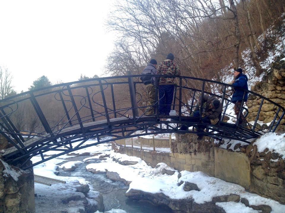 Кисловодчане возмущены реконструкцией мостика «Дамский каприз»