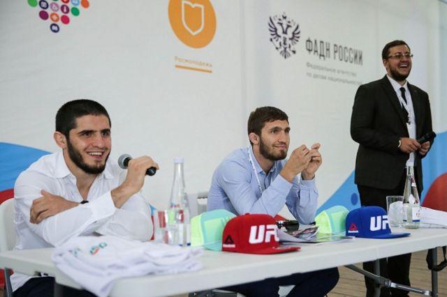 Именитые бойцы UFC пообщались с участниками форума «Машук»