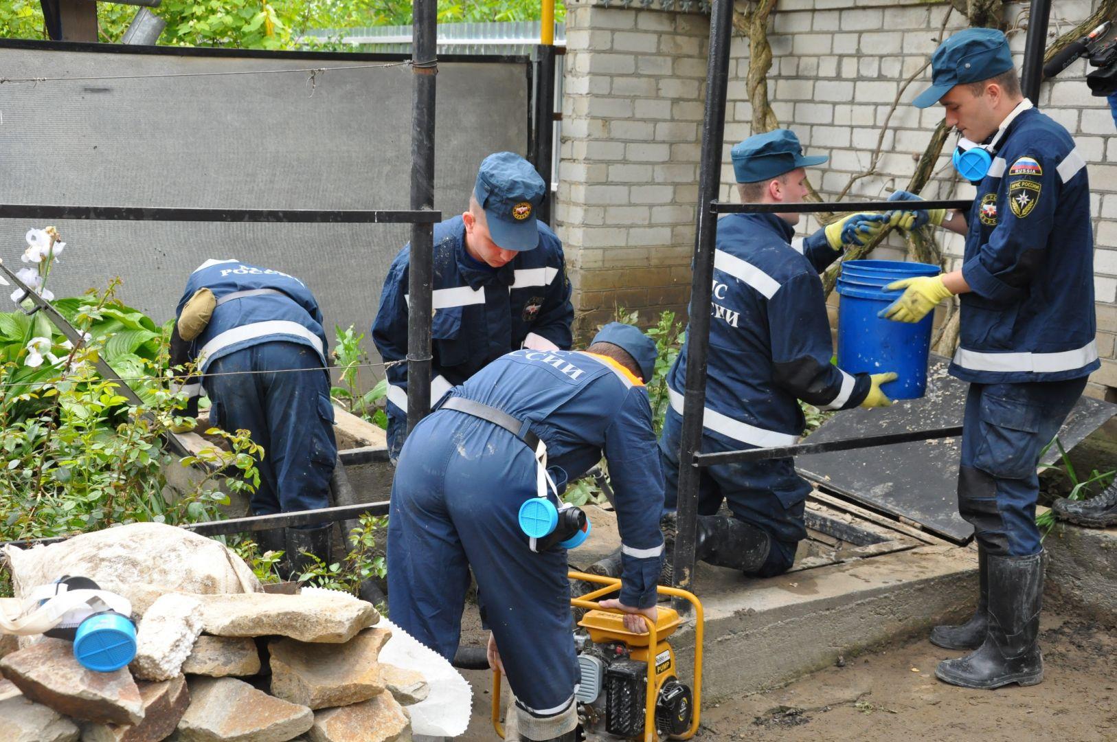 Засутки два подтопленных поселения наСтаврополье освободились отводы