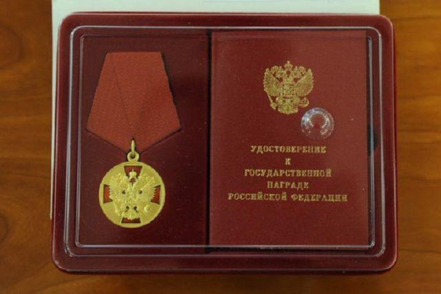 Начальнику управления Росгвардии по Ставрополью вручили государственную награду