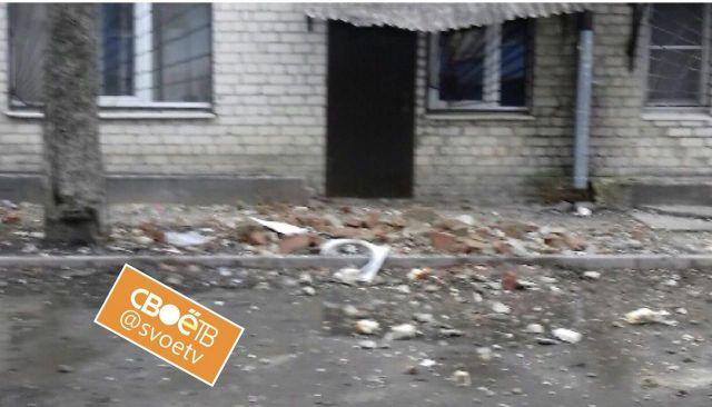 На одном из зданий краевого центра рушится крыша