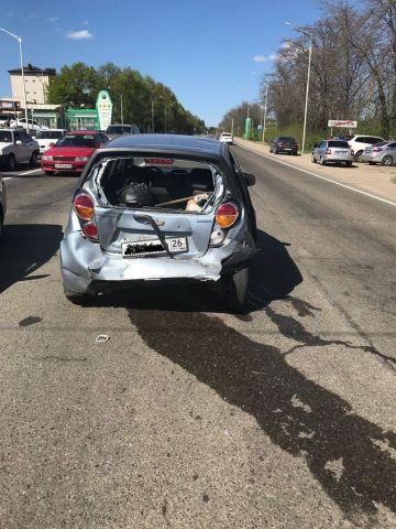 В Ставрополе столкнулись две легковушки, пострадали двое школьников