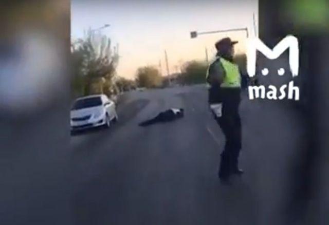 На Ставрополье нарушители «прокатили» полицейского на капоте легковушки