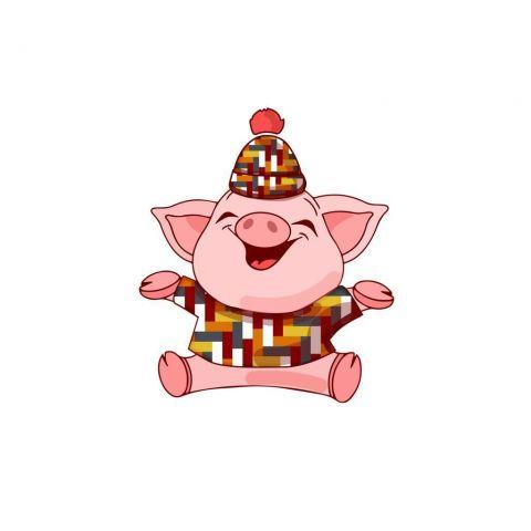 Свинка в наряде под цвет тротуарной плитки стала новогодним символом Ставрополя