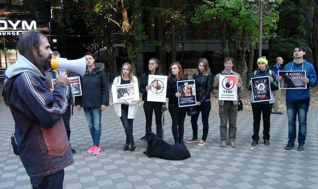 В Ставрополе прошёл митинг в защиту животных