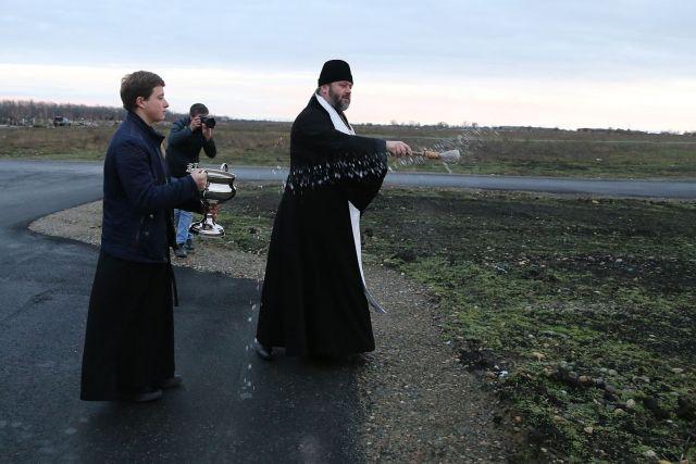 Новое Крестовоздвиженское кладбище освятили