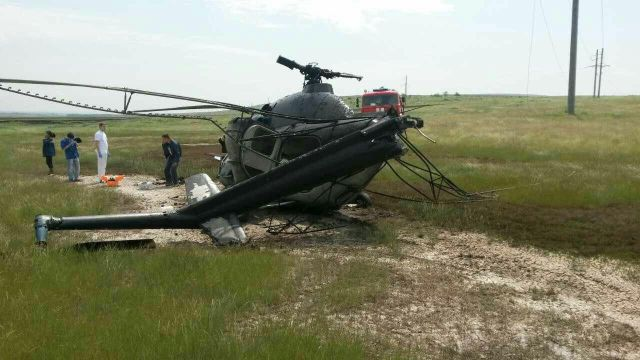 Вертолёт Ми-2 потерпел крушение в Ставропольском крае