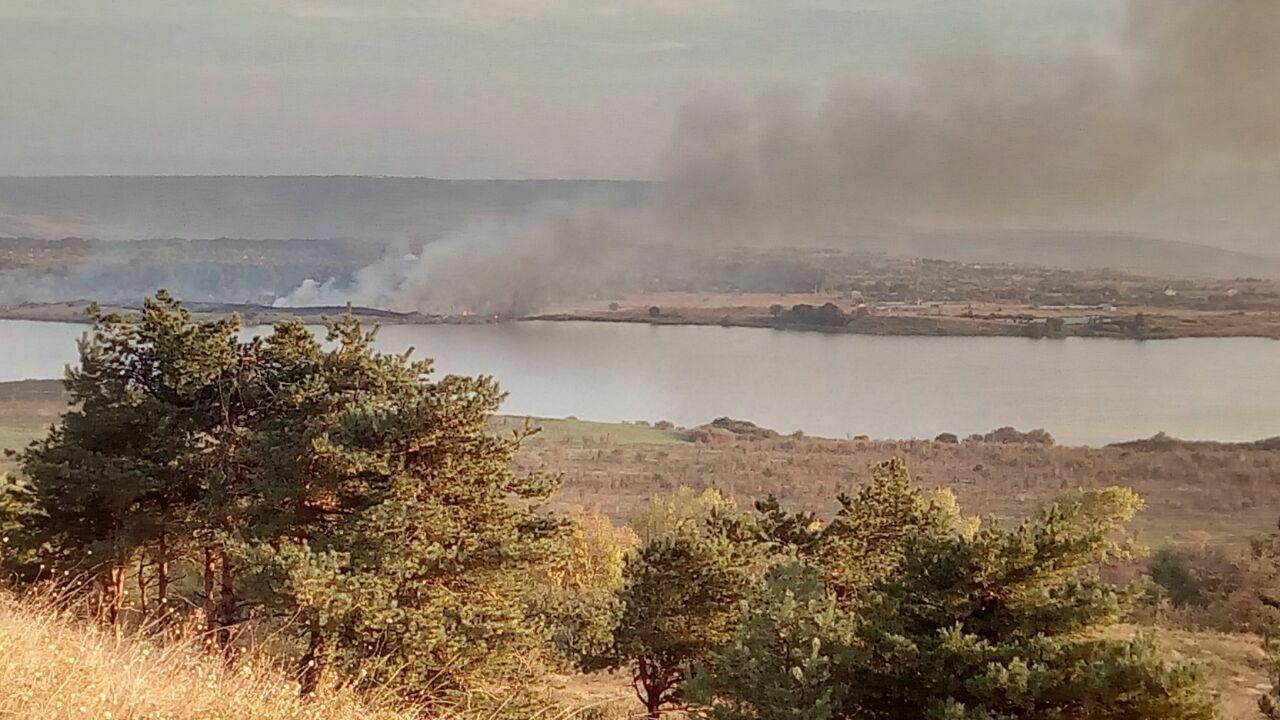Вокрестностях Ставрополя устранили все очаги возгорания травы
