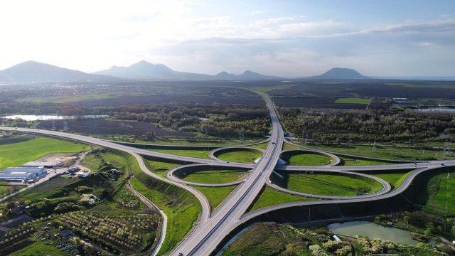 Фото новой дорожной развязки под Пятигорском опубликовал «Росавтодор»