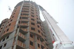 488-квартирном жилом строящемся доме прошли пожарные учения