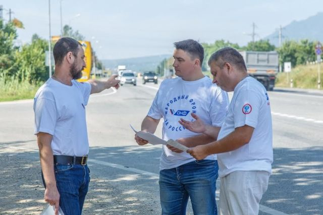 Активисты ОНФ обследовали 10 дорожных участков наКМВ