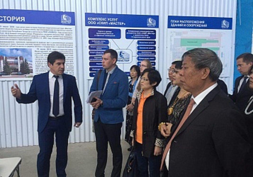 Бизнесмены Китая посетили частный индустриальный парк «Мастер»