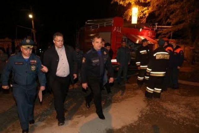Глава МЧС России прибыл в посёлок Первомайский для оценки аварийно-восстановительных работ