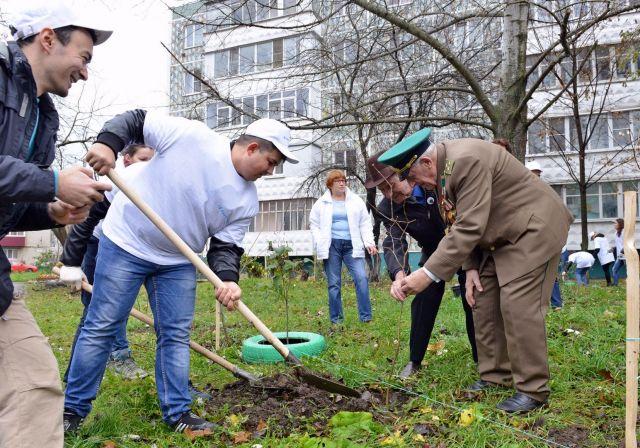 ЕвроХим высаживает зелёные насаждения в Невинномысске и на Мамаевом кургане