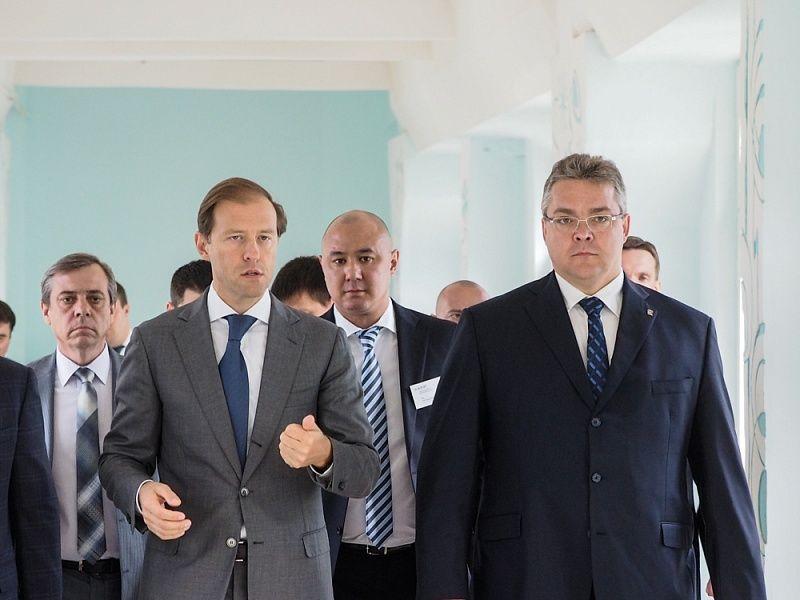 В столице губернатор Ставрополья встретился сглавой минпромторгаРФ